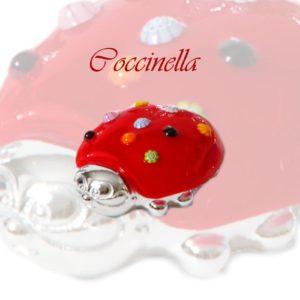 coccinella in vetro di Murano