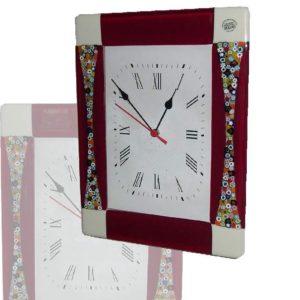 orologio in vetro di murano fenice