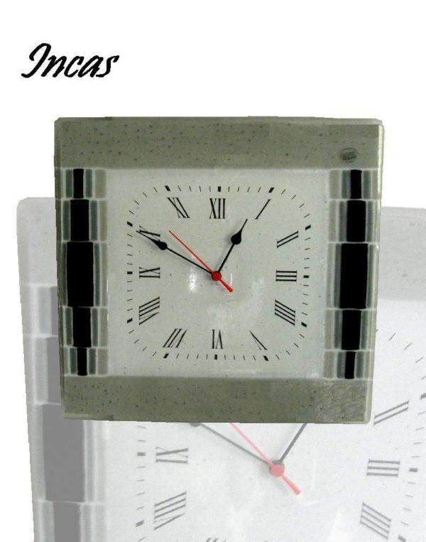 orologio in vetro di murano incas