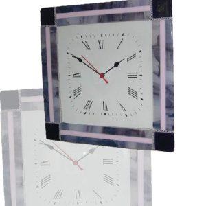 orologio in vetro di murano lavanda