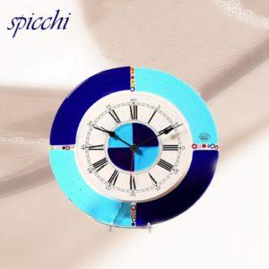 orologio in vetro spicchi