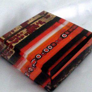 Fermacarte in vetro di Murano rosso