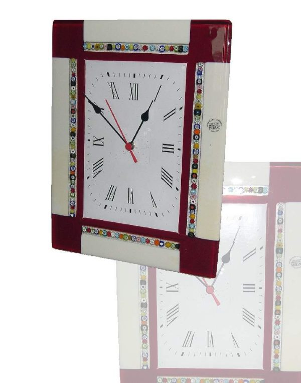 orologio in vetro di murano zattera